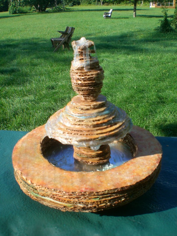 finished fountain outside