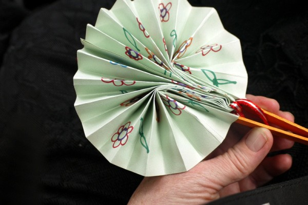 Making a Paper Fan