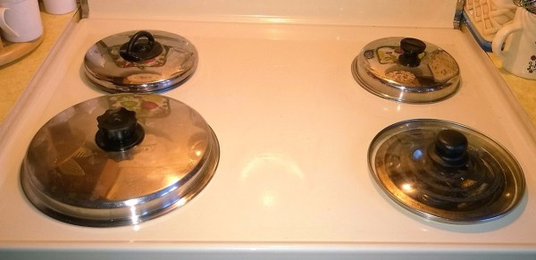 Use Lids to Cover Burners