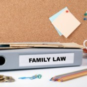 Family law folder on desk