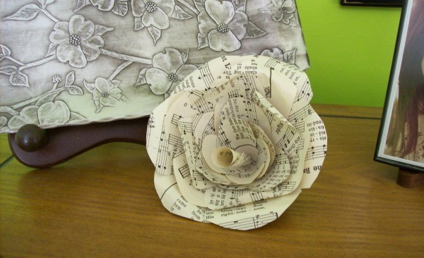 making paper flowers from old books thriftyfun