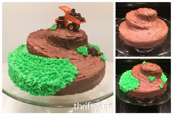 Making A Dump Truck And Mountain Cake Thriftyfun