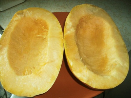 Cooking Spaghetti Squash and Saving Seeds