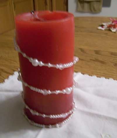 Wire Decorated Candles