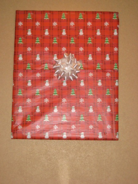 Wrapped Pictures as a Holiday Decoration