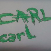 fancy letters spelling Carl