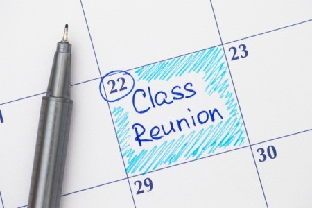Calendar with High School Reunion marked on it