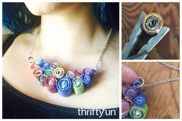 Making a Magazine Swirl Necklace