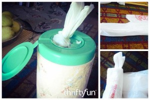 DIY Plastic Bag Dispenser