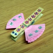 Butterfly Peg (Clothes Pin)