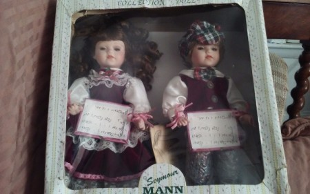 dolls in a box