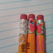 Color Coordinate Pencils with Nail Stickers