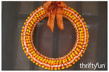 Making a Candy Corn Wreath
