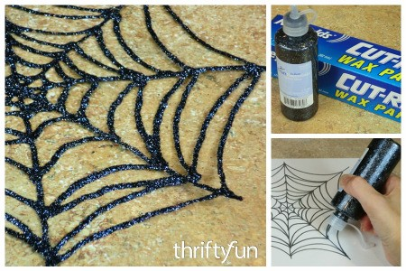 Glitter Glue Spiderweb