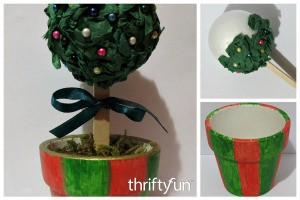 Making a Miniature Christmas Topiary Tree