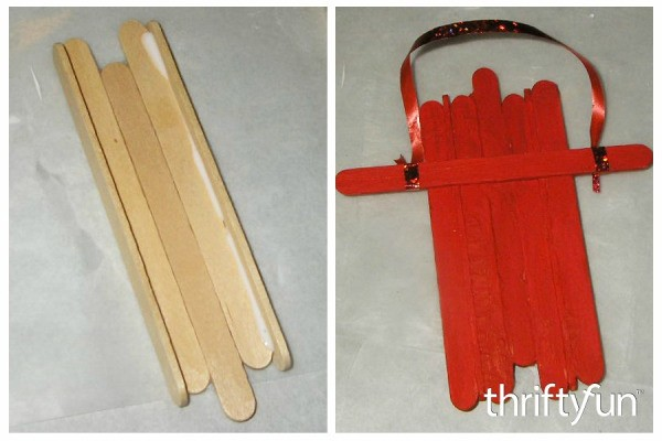 Making a Popsicle Stick Wooden Sled Ornament