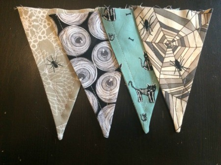 Halloween Mantel Pennants