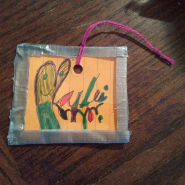 Children's Art Frame Ornament