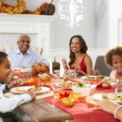 Family at Thanksgiving dinner