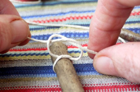 tying string in double knot