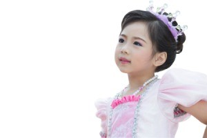 Beautiful young girl dressed as a princess