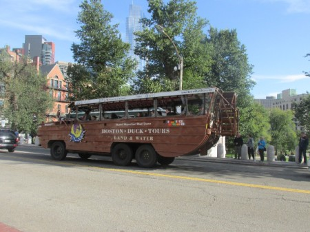 A Duck Tours bus in Boston.