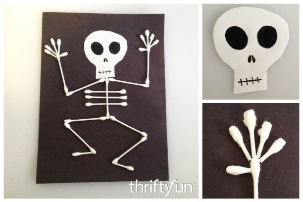 q tip skeleton craft template - making a q tip skeleton thriftyfun