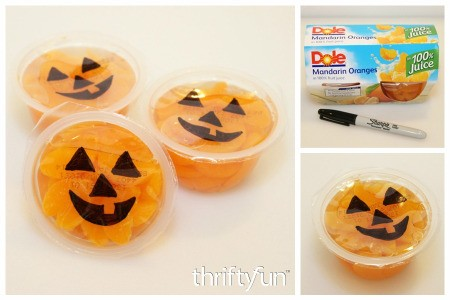 Jack-O'-Lantern Fruit Cups