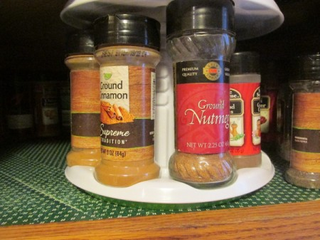 Spices for baking.