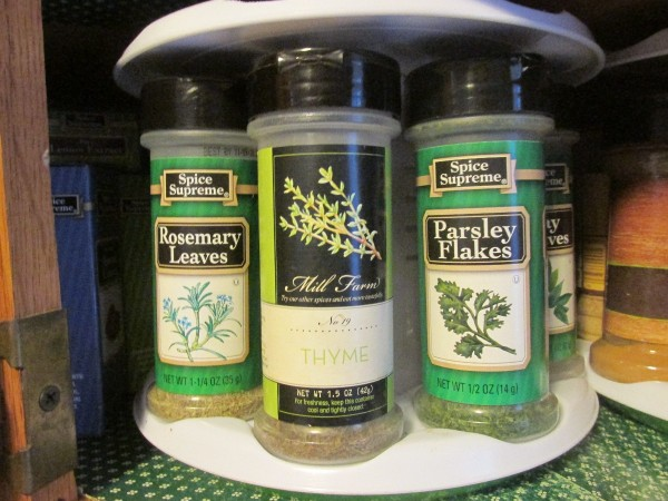 Spices for cooking.