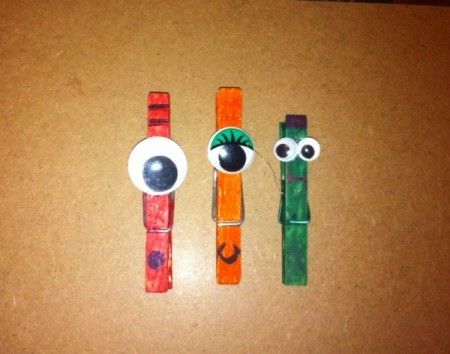 Monster Clothespin Clips