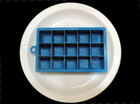 Ice cube trays for clarified butter.