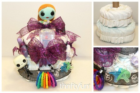 Making a Nightmare Before Christmas Diaper Cake
