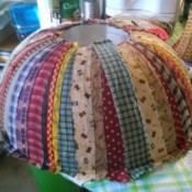 Homespun Fabric Covered Bowl