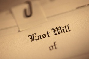 A will disposing of personal property of a deceased person.
