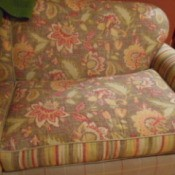 floral pattern on couch upholstery