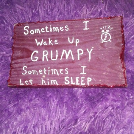cute grumpy saying on sign