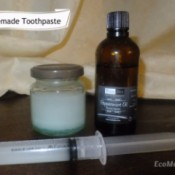 homemade toothpaste with syringe