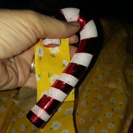 Fabric Covered Christmas Candy Cane