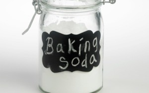A jar of baking soda.