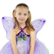 A girl in a fairy costume.