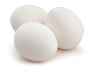 A picture of three eggs.