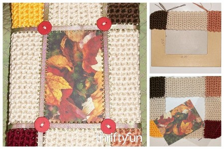 Making a Crocheted Fall Picture Frame