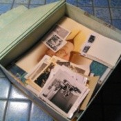 decorative paper box with photos