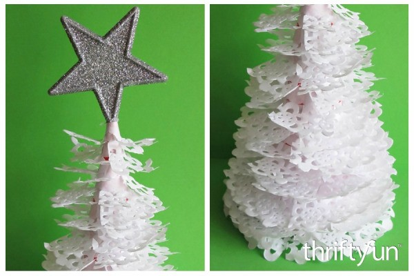 Making A Paper Doily Christmas Tree Thriftyfun
