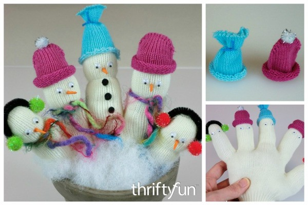 Making Glove Snowmen | ThriftyFun