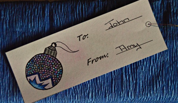 mini ornament gift tag