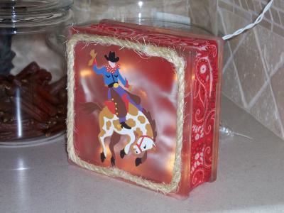 Glass Block Christmas Decoration Thriftyfun