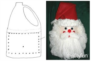 Making a Bleach Bottle Santa