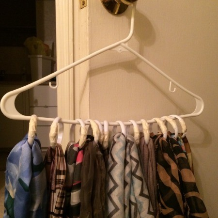 Protecting Scarves Stored on Shower Curtain Rings